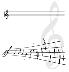 Violin key and notes vector