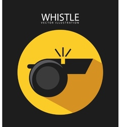 Whistle icon vector