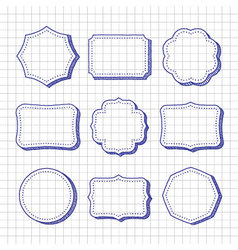Set of hand drawn frames vector