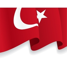 Background with waving turkish flag vector