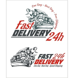 Delivery elements gray and red shipping signs vector