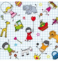 Background children vector