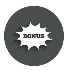 Bonus sign icon explosion cartoon bubble symbol vector