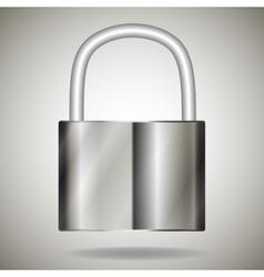Lock metal vector