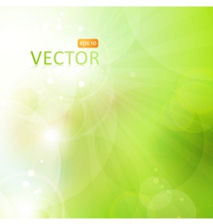 Abstract green bokeh background with lights vector