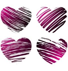Grunge hearts 2 vector