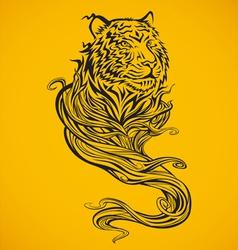 Tiger spirit dark vector
