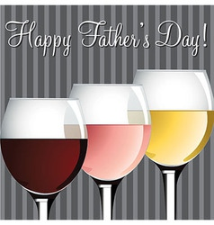Wine theme fathers day card in format vector