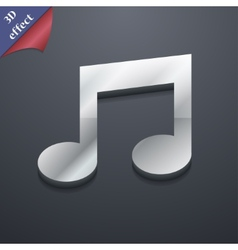 Music note icon symbol 3d style trendy modern vector