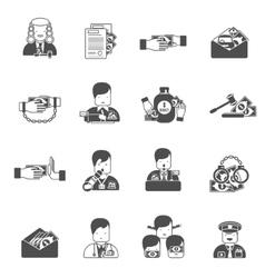 Corruption black icons vector