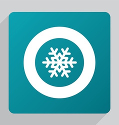 Flat snowflake icon vector