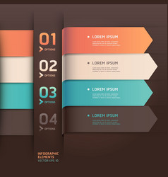 Modern arrow origami style options banner vector