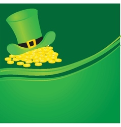 Background with leprechaun or gnome on patrick day vector
