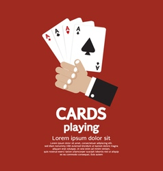 Card playing eps10 vector