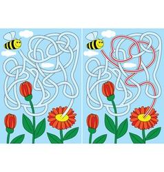 Bee maze vector