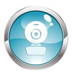 Gloss button with web cam vector