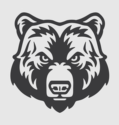 Bear head logo mascot emblem vector