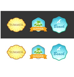 Set of emblem with summer vector