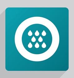 Flat rain icon vector