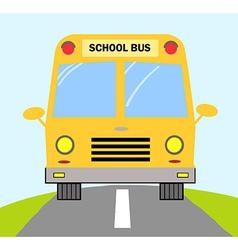 School bus cartoon vector