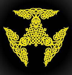 Yellow native ornament vector