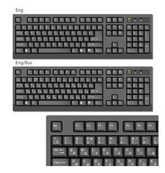 Black computer keyboards vector