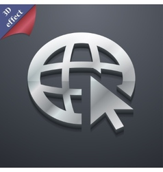 World wide web icon symbol 3d style trendy modern vector