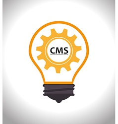 Cms design over white background vector