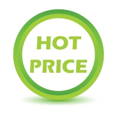 Green hot price icon vector