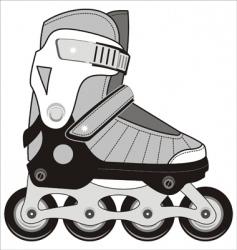 Sports roller skates vector