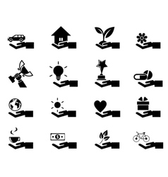 Hand concept icons eps 10 vector