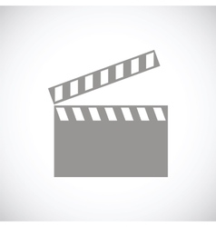 Film black icon vector