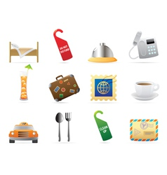 Icons for hotel and services vector