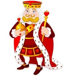 Heart king vector