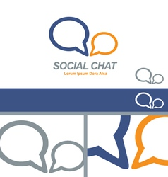 Social media chat network business logo concept vector