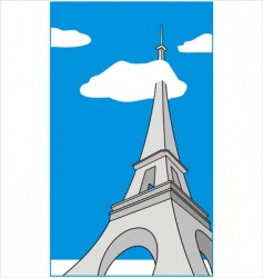 Cartoon eiffel tower vector