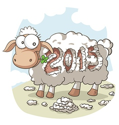 Year of the sheep 2015 cartoon vector