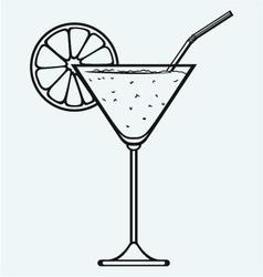 Tropical fresh cocktail vector