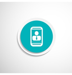 Chat on tablet concept vertical icon vector