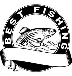 Best fishing vector