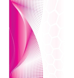 Pink abstract wave vector