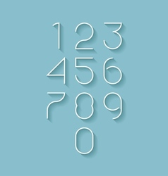 Modern numbers set vector