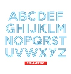 Type font stripes retro vintage vector