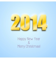 New year 2014 background gold numbers vector