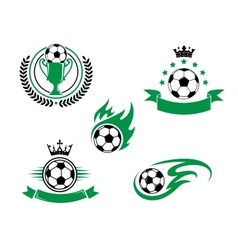 Football and soccer design elements vector