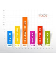 Infographic flat design column graph chart vector