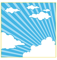 Sky cloud background vector
