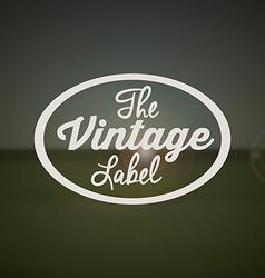 Retro and vintage label vector