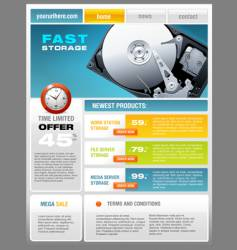 Hard disk promotional brochure vector