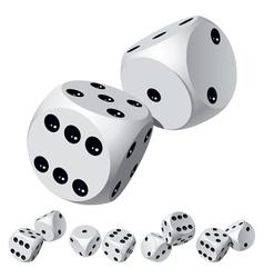 Dice rolls vector